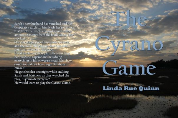 The Cyrano Game cover for the hard copies coming